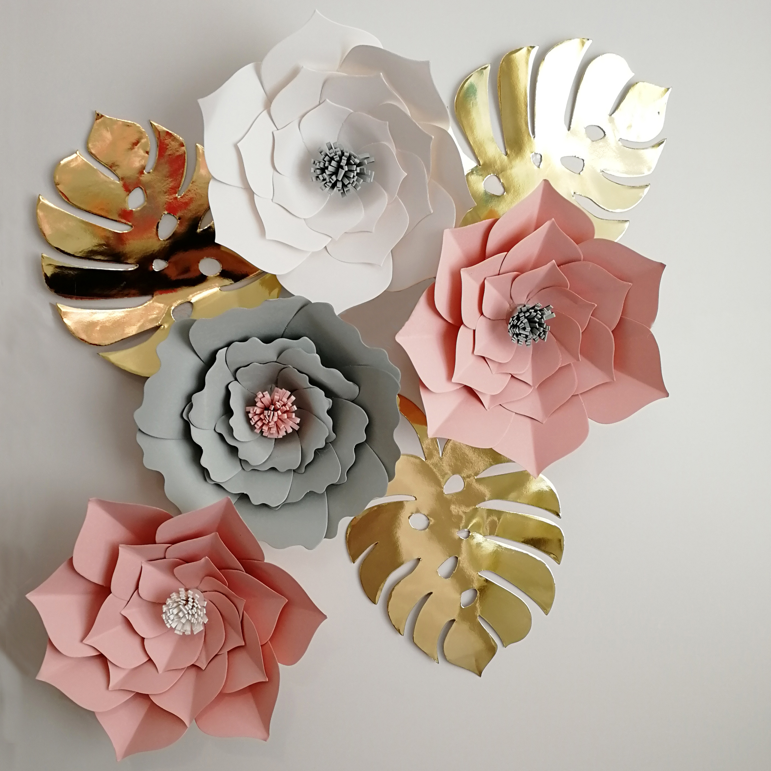 Paper Flowers Wall Decoration